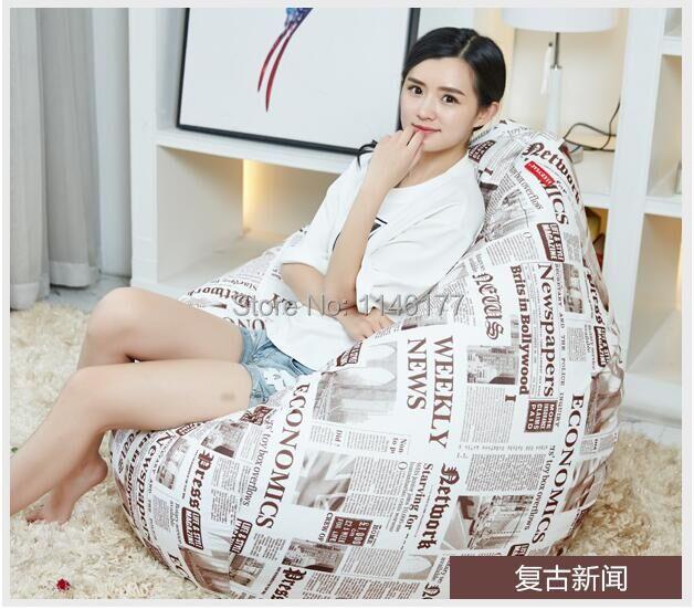 Ywxuege Living Room Retro News Sofas Bean Bag Sofa Linen Cotton Soft Sofa Bed Suit For Bed(China (Mainland))