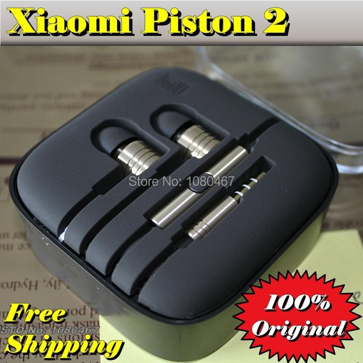 100% Original brand XIAOMI Piston 2 gold slver ii 2nd, as good IE80 IE800 Noise isolating hifi music headphone Mi3 Mi4 earphone(China (Mainland))