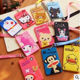 Kawaii Cartoon Animal Silicone Card / ID Holder Luggage Tag Bank / Bus / Credit Card Cover Wholesale KCS(China (Mainland))
