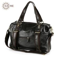 Casual Tote Men's Travel Bags Vintage Dark Green Cowhide Men Shoulder Bag Large Capacity Crossbody Bags Outdoor Quality Handbags(China (Mainland))