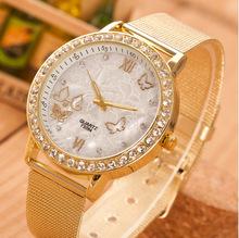2015 Women s Watches Brand Luxury Fashion Ladies Watch women Wristwatches relojes mujer Gold Quartz Clock