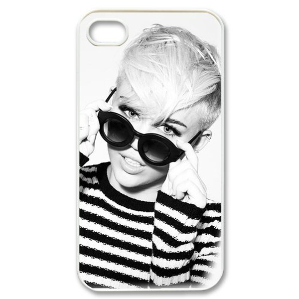 Singer Series Customize Miley Cyrus White Side Hard Plastic Mobile Phone Case Cover Iphone 4 4S 5 5S 5C 6 Plus - ShoppingCenter store