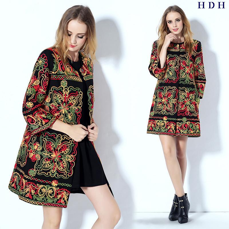 Europe France Italy 2016 spring autumn new high qulity hand  embroidery coat trench womenОдежда и ак�е��уары<br><br><br>Aliexpress