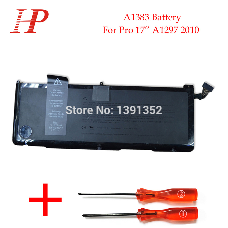 Original Qaulity A1383 Rechargeable Battery For Macbook Pro 17 A1297 Battery 2010 10.95V 95Wh With Screws Drivers<br><br>Aliexpress