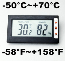 Buy Digital LCD display large screen Temperature Sensor Thermometer Humidity Meter Hygrometer Gauge Celsius Fahrenheit tester for $36.10 in AliExpress store