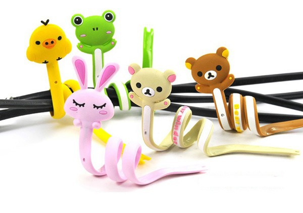 Animal Long Wrap Headphone Earphone Cable Cord Wire Winder Organizer Holder(China (Mainland))