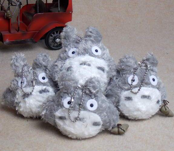 Free Shipping wholeseale Lovely stuffed animals  plush toy My Neighbor TOTORO Mini toy high 9cm with chain small pendant present