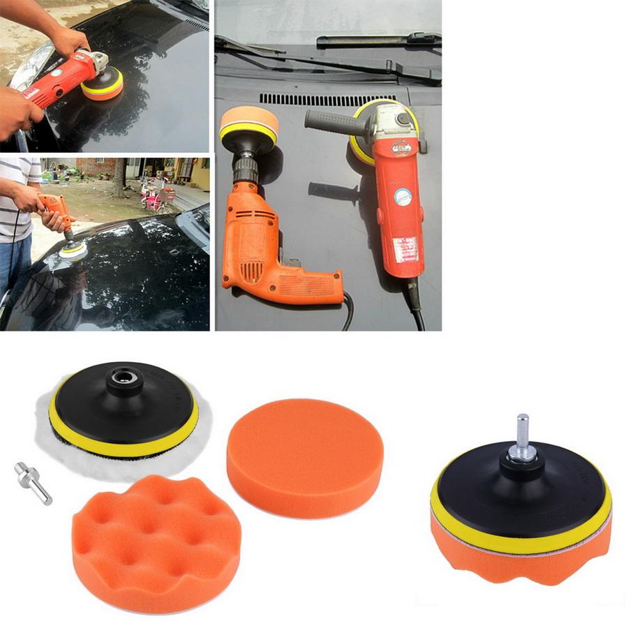 New 5 inch Buffing Pad Auto Car Polishing sponge Wheel Kit With M10 Drill Adapter Buffer