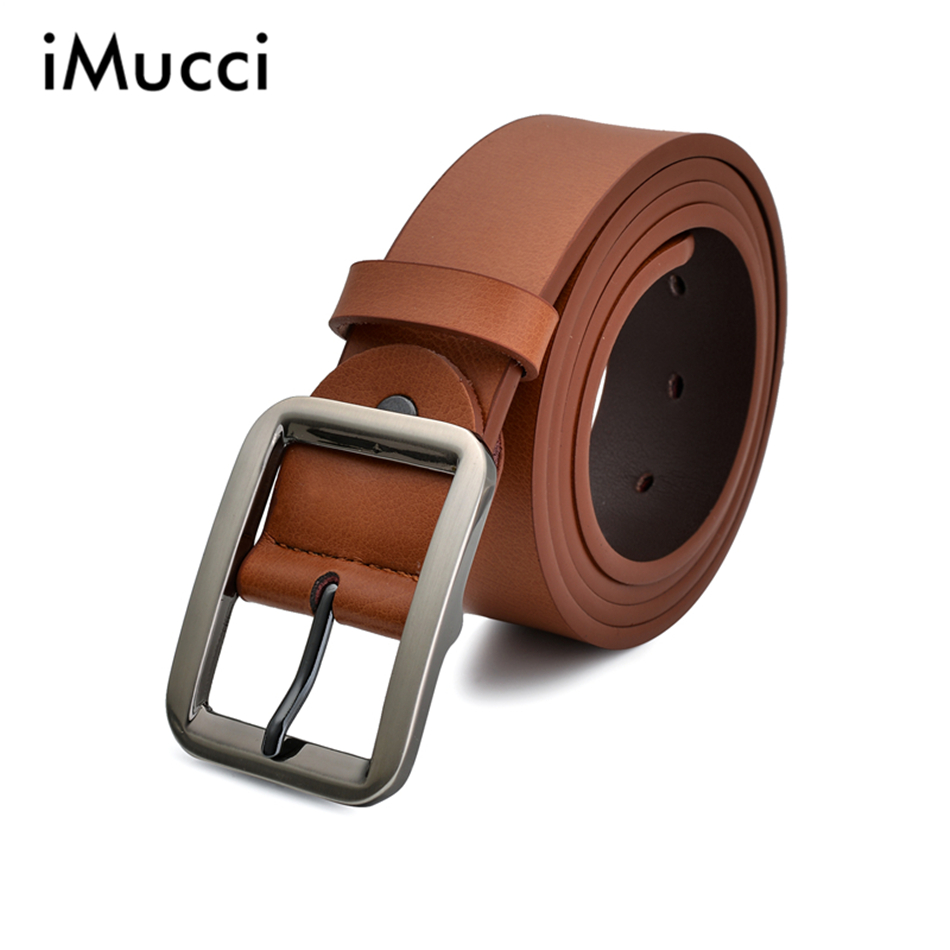 New Designer Men Belts High Quality Brand Luxury Leather Belt Pin Buckle Brown Business Trouser Strap Best Belt Wholesale(China (Mainland))