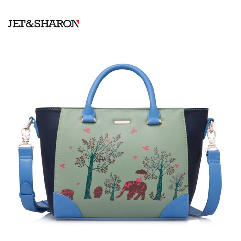 2015 new winter fashion handbags Super Meng elephants fight color portable shoulder bag Messenger bag(China (Mainland))