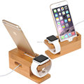 100% Natural Bamboo Charging Dock Station Bracket Cradle Stand Phone Holder For APPLE iPhone 6S PLUS 6/5S/5C/5/4S/4/For i watch