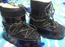Tamaño 34-40 mujeres real de piel de lana caliente botas de nieve de oro de plata negro zapatos de invierno de las mujeres(China (Mainland))