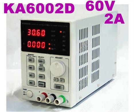Фотография KA6002D quality High Precision programmable Variable Adjustable Digital Regulated power supply DC Power Supply 60V/2A mv mA