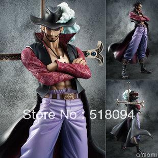 Anime One Piece Dracule Mihawk PVC Action Figure Collection Model Toy 22CM OPFG232