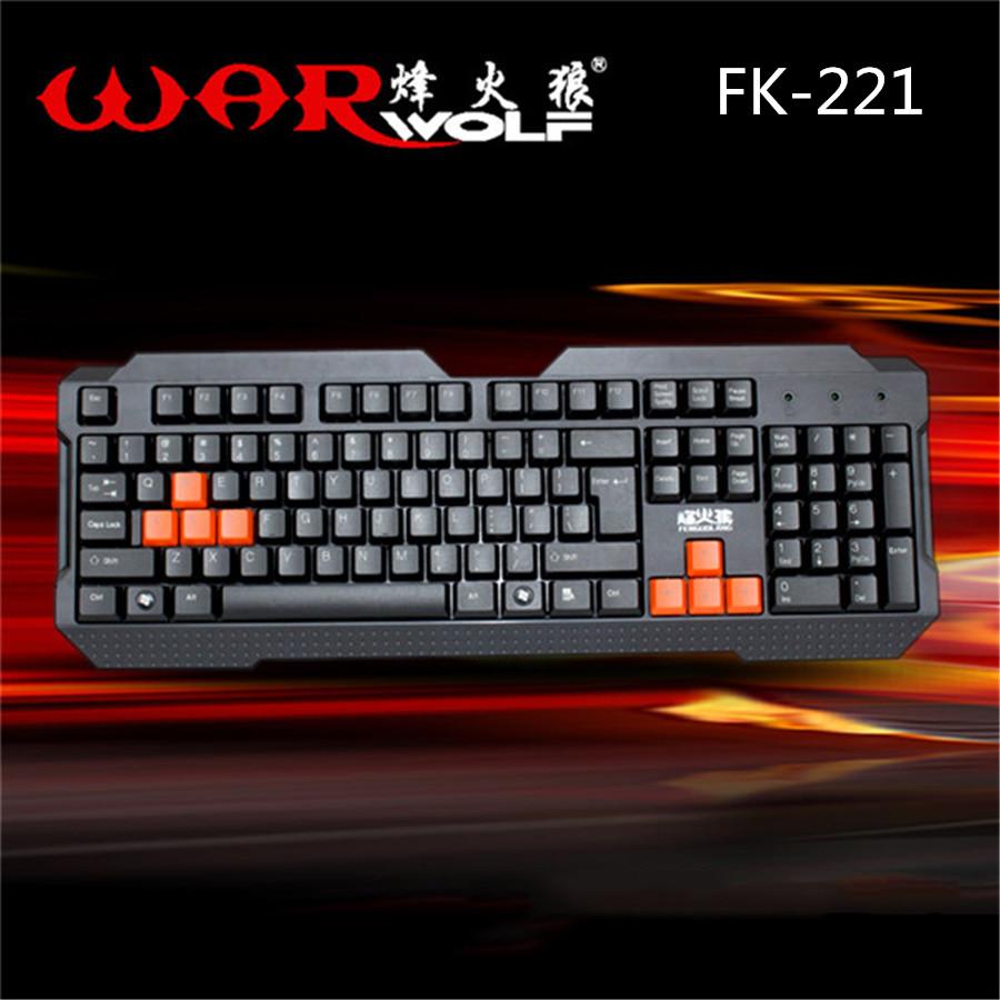 Warwolf Gaming Keyboard 104 Key Wired Keyboard Gamer Keyboard for PC Computer Desktop Laptop LOL Gaming Computer Keyboard FK-221(China (Mainland))