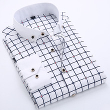 camisa masculina social blusa chemise hombre fashion new shirt male casual long sleeve cotton designer clothes shirts mens print