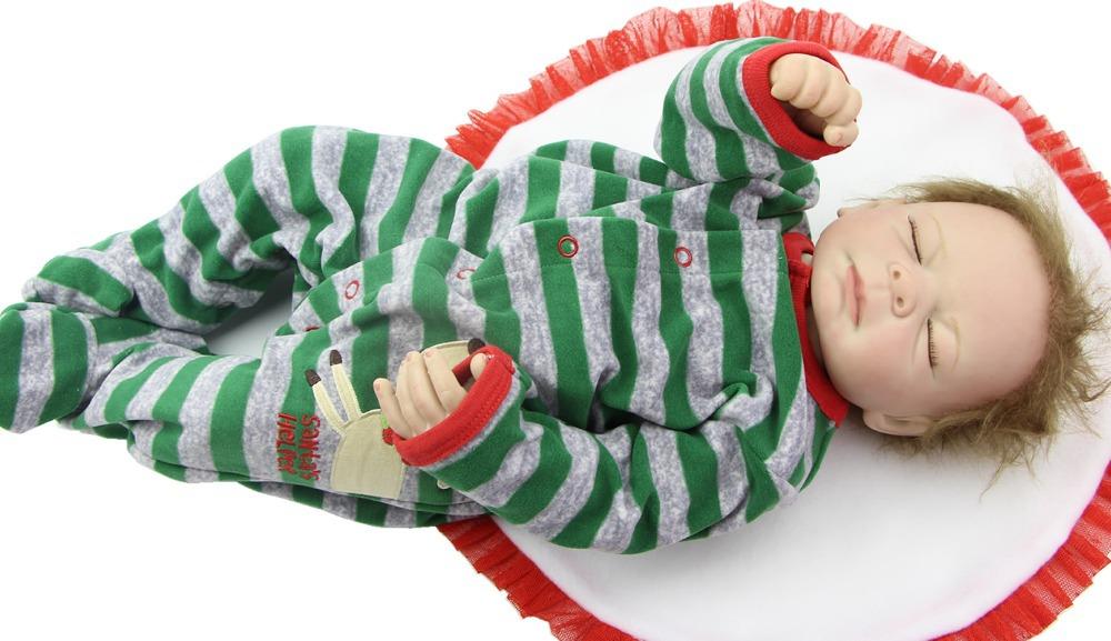 Handmade Reborn Baby Boy 20 Inch Sleeping Doll Reborn Full Vinyl Finished Doll Baby Birthday Gift<br><br>Aliexpress