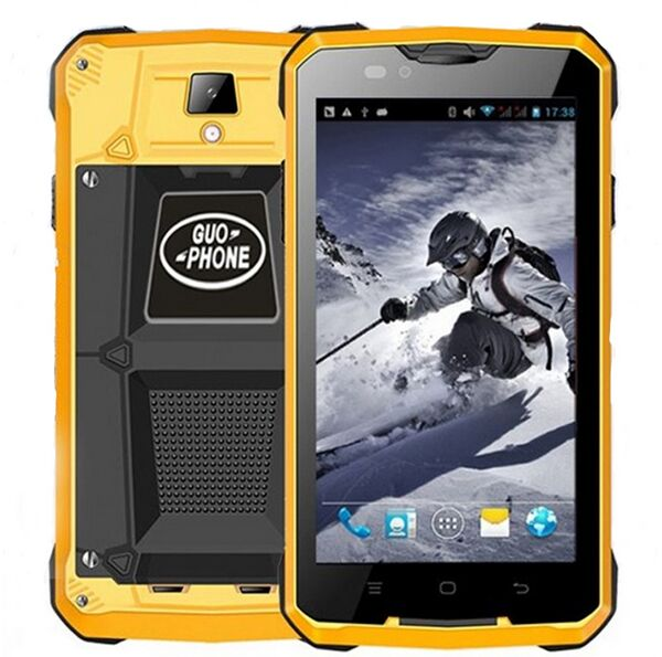 GUOPHONE V12 Android 4.4 Smartphone Waterproof Dustproof Shockproof 5Inch MTK6572 Dual Core 1.3GHZ 4000mAh 3G GPS Mobile Phone(China (Mainland))