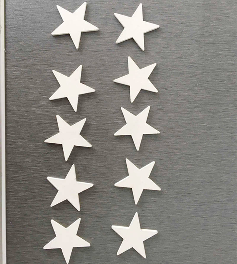 free shipping wholesale wood five star 4*4cm white color home decoration wedding deco christmas deco(China (Mainland))