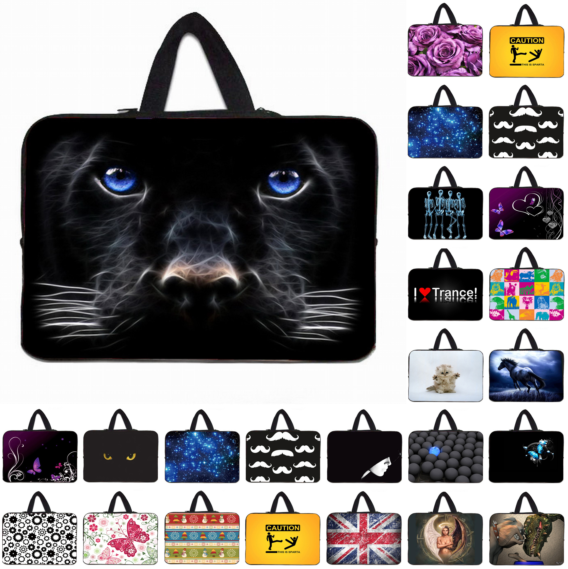 Animal Prints Notebook Laptop Bag 15.6 Zipper Sleeve Pouch Cover Bags For 10 12 13 14 15 17 inch Universal Netbook Mini Computer(China (Mainland))