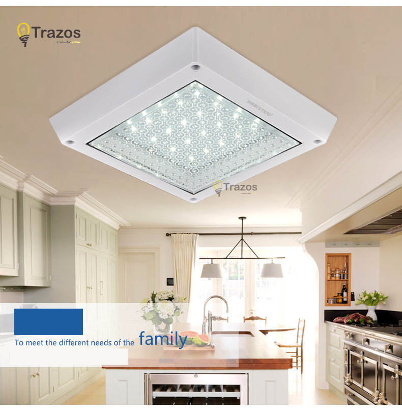 Popular kitchen led ceiling light in 2015 saving energy high quality luminarias para sala de jantar white shade plafon lamp(China (Mainland))