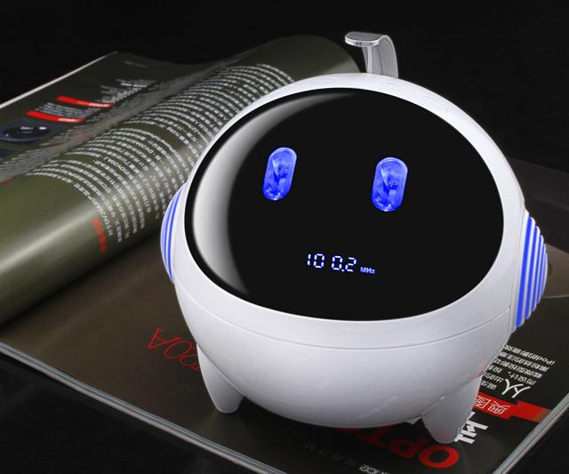 New LED mini card 'FM radio' MP3 mp4' WMA' '2.1 sound tracks' portable remote speaker subwoofer+1000mA  lithium battery