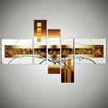 5 piece large wall art canvas abstract black and white decorative canvas picture hand painted oil