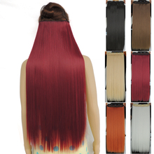 120g 28 inch long clip in hair extensions straight hairpiece synthetic 5 clips on hair extension hairpieces 25 colors available