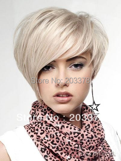 New Lovely Short Hairstyle Trend Straight Cheap Wig  for women / lady /girl 10pcs/lot mix order
