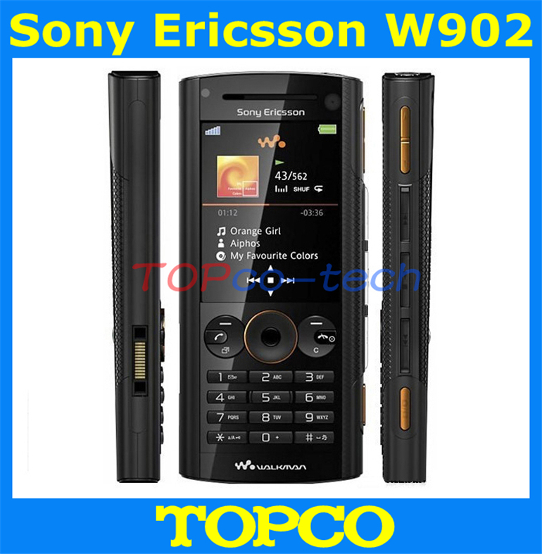 W902 Sony Ericsson W902 original unlocked mobile phone 3G GSM Buletooth 5MP camera cell phone dropshipping(China (Mainland))