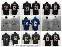 100% stitched Pat McAfee Andrew Luck T.Y. Hilton white Black Green Salute,camouflage(China (Mainland))