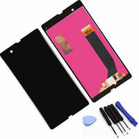 Black LCD  touch screen digitizer assembly +Tools for Sony Xperia Z L36h L36i C6606 C6603 C6602 C660x C6601,Free shipping!!