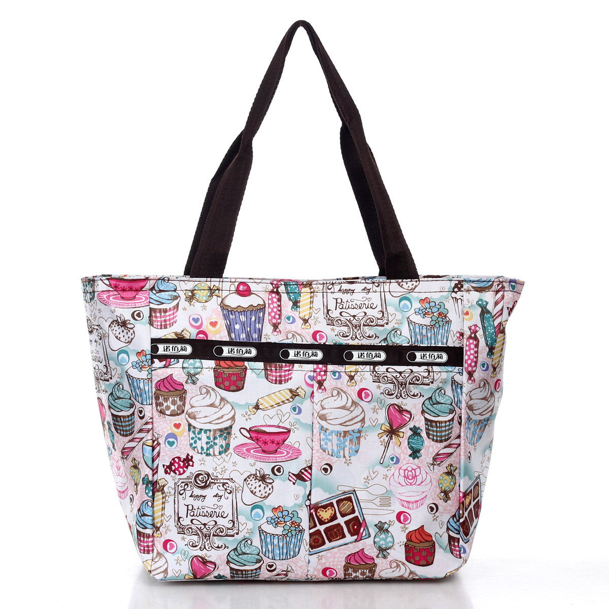 Hot sale 2014 New fashion womans Nylon Waterproof print handbag cartoon shoulder bag for female Gym bags Free shipping D2488(China (Mainland))