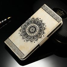 Luxury Flip Leather Case Samsung Galaxy S7/S7 Edge Wallet Stand 3D Mandala Flower Cover Coque Fashion Capinhas S7 - Final Box Technology Co.,Ltd store