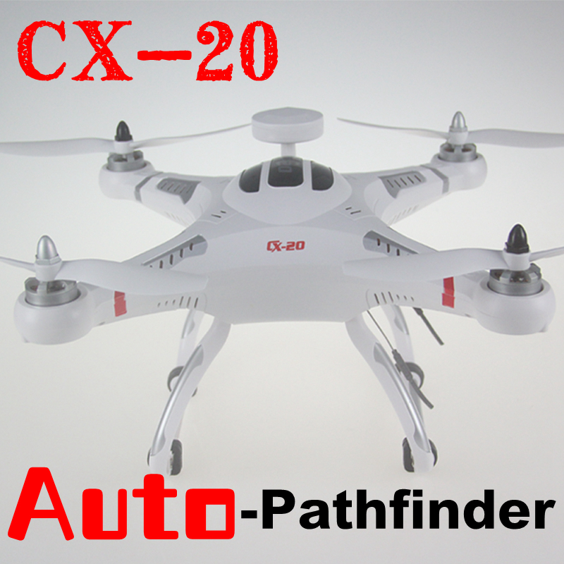 Free Shipping Syma Cheerson CX-20 Drone Auto-Pathfinder GPS Control 4 Channel 6-Axis RC Helicopter Quadcopter with HD Camera(China (Mainland))