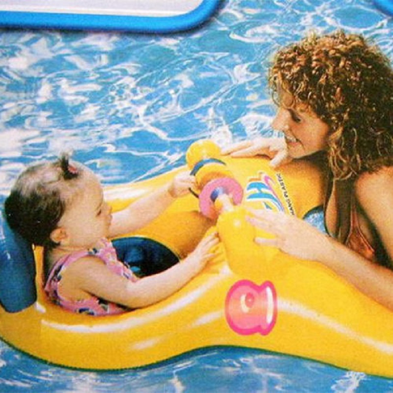 Inflatable Safe Seat Ring Pool Bath Mother Baby Swim Float Raft Kid Chair Pool(China (Mainland))