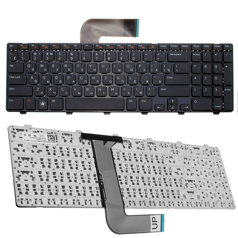 Mini Portable Russian Letter Keyboard For Dell For Inspiron 15R N5110 M5110 N 5110 RU Black Laptop Keyboard