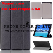 Magnetic Stand pu leather Case cover For ASUS Zenpad S 8.0 Z580 Z580CA Z580C 8″  tablet cover cases + screen protectors + stylus