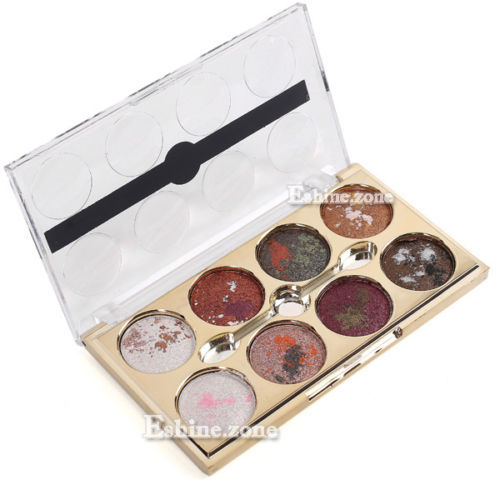 Pro 8 Mix Colors Makeup Eyeshadow Shimmer Cosmetic Eye Shadow Palette Warm Nude(China (Mainland))