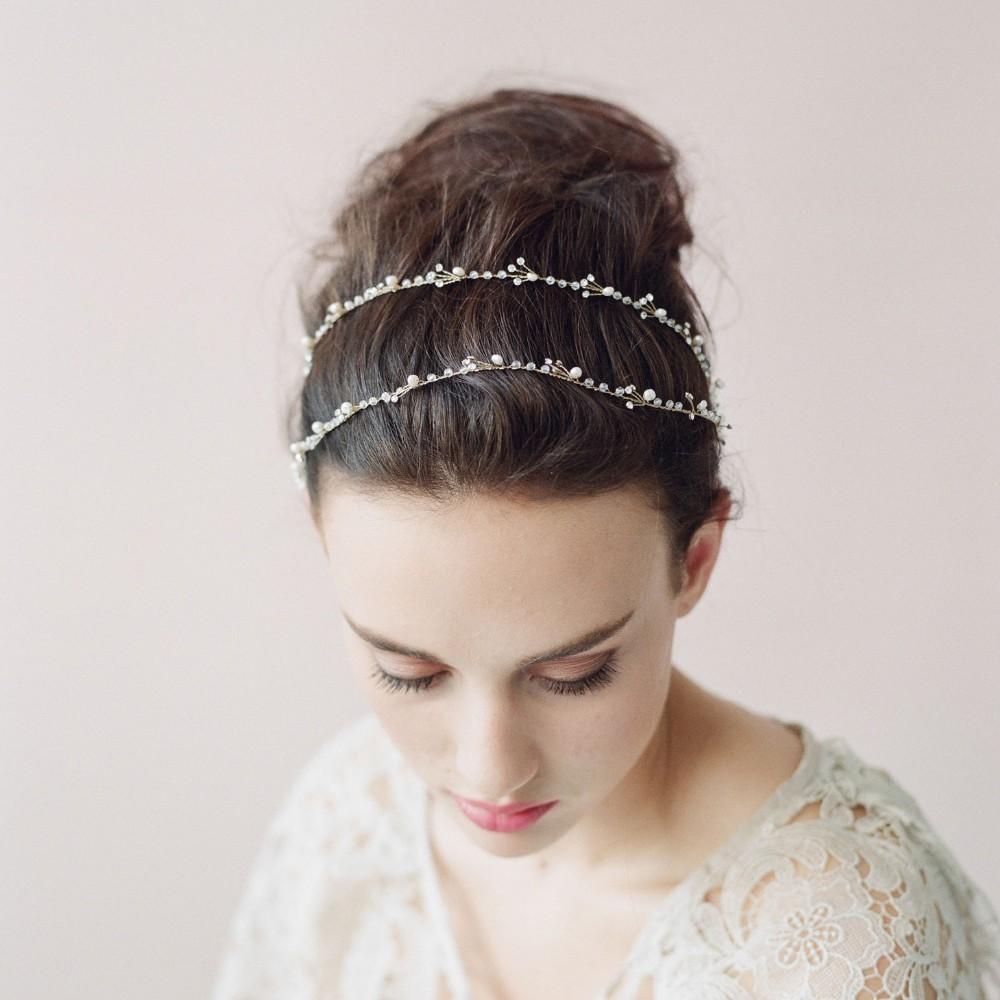 Роскошные красивая новое поступление 2015 золото свадебные повязка на голову кристаллы груши Handwear свадебные аксессуары для волос