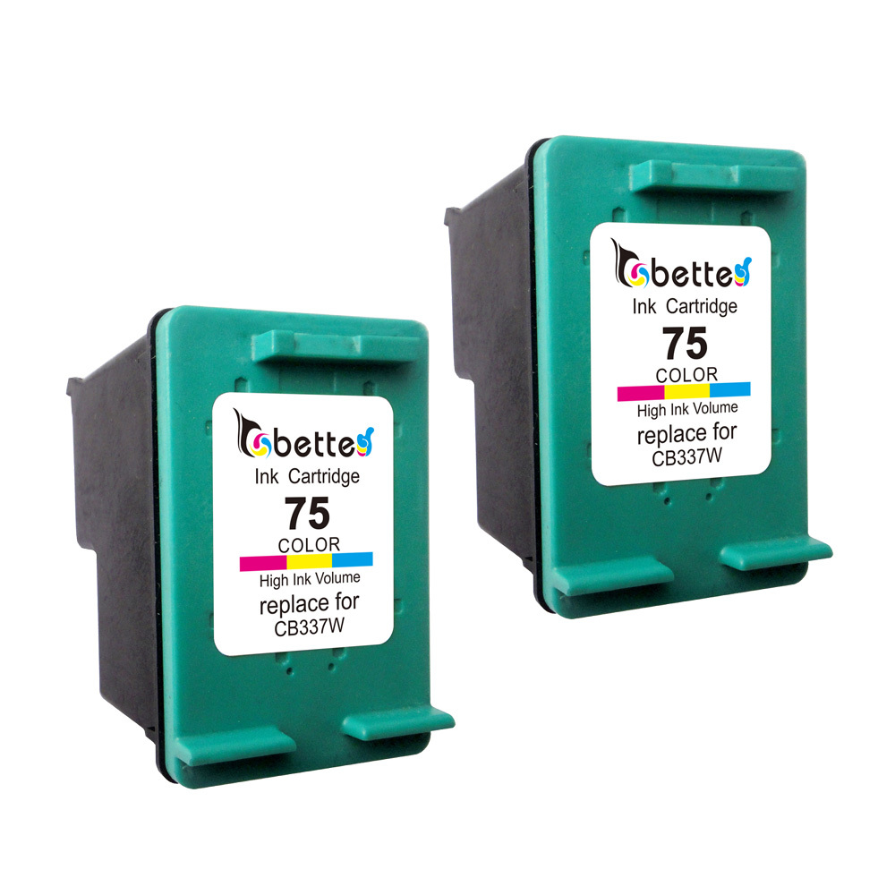 2PK, CB337WN Printer Ink Cartridge for HP 75 hp75 Photosmart C4380 C4385 C4480 C4580 Officejet J5780 J6480 Deskjet D4260 D4360(China (Mainland))