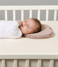 Hot baby pillow infant shape toddler sleep positioner anti roll cushion flat head pillow protection of children almohadas bebe(China (Mainland))