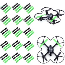60pcs 2-Blade Black Green CW CCW Propellers Props for Hubsan X4 H107L H107C H107D Quadcopter 66