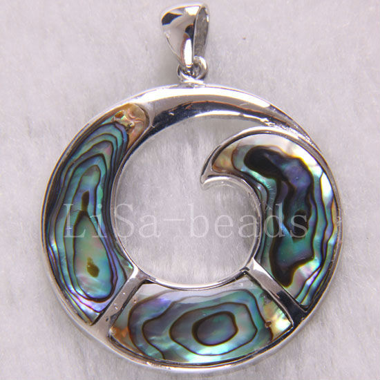 Fashion Jewelry 38x38MM New Zealand Abalone Shell Pendant 1Pcs K239(China (Mainland))