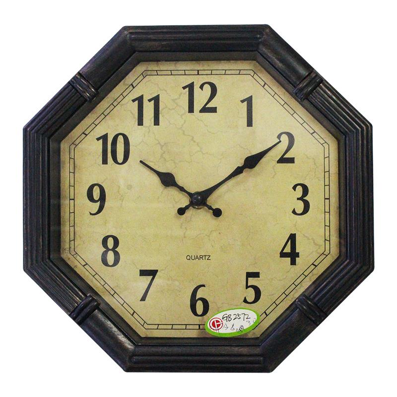 Cheaper price retro rustic decorative clock fashion big wall watches antique and vintage quartz slient gear clock(China (Mainland))