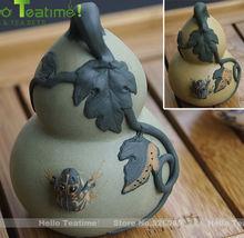 [HT!]purple clay tea pet tea toy bottle gourd,calabash,cucurbit zisha teapet gong fu teaset accessory zi sha tea pets decoration(China (Mainland))