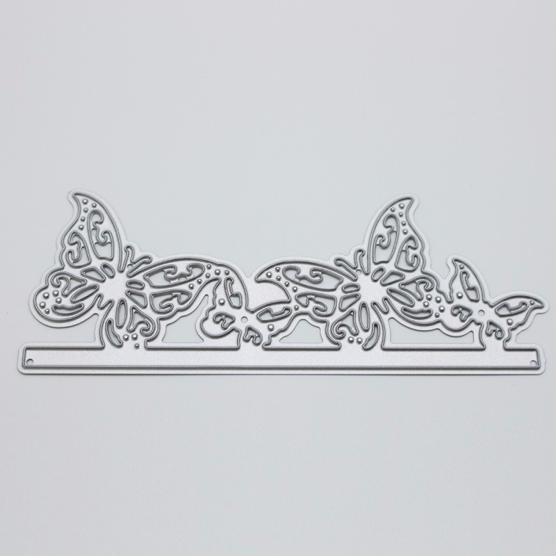 DIY Silver Butterfly Cutting Dies Stencil  Scrapbooking Album Paper Card Lovely For DIY Scrapbooking Photo Album Decor Hot Sale
