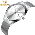 BINSSAW luxury Brand Men s watches dress quartz watch men steel mesh strap quartz watch Ultra