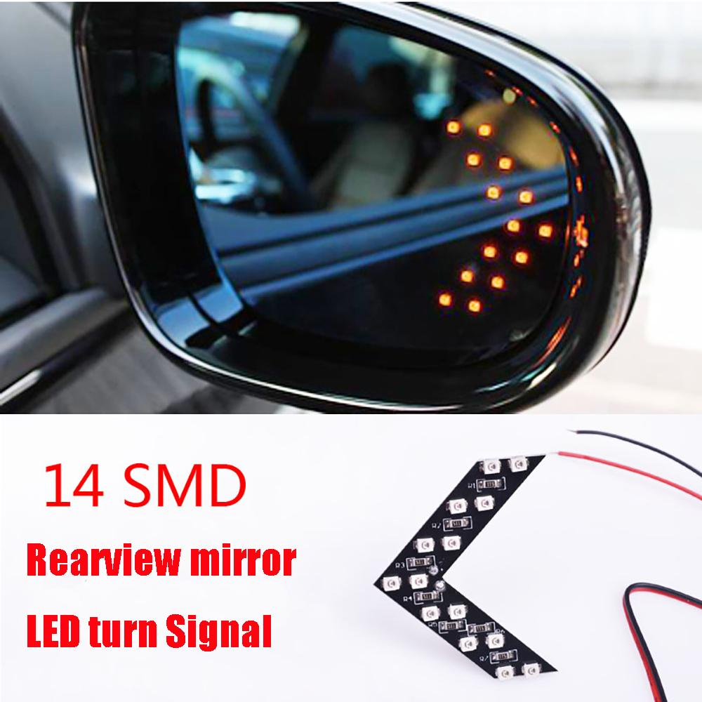 14SMD LED Arrow Panel Car Rear View Mirror Indicator Light For Nissan Qashqai Rogue Safari Sentra Skyline Crossover Stagea Sunny