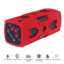 Wireless IPX4 Waterproof Bluetooth Speaker Outdoor Sport MP3 Player Hands Free Call with NFC 3600mAh Power Bank Function 4 color(China (Mainland))